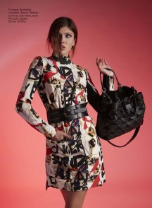 Dress, Burberry London, Timinis boutique; bag, belt, all - Armani Jeans, Timinis boutique