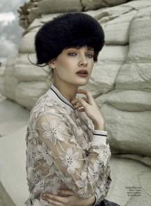 Jacket, D.Exterior, Timinis boutique; hat, Falconeri, Falconeri boutique