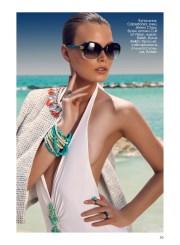 Swimsuit, Calzedonia; sunglasses, Jimmy Choo, Cult of Vision; jacket, Relish, Relish boutique; bracelet, stylists own; rings, Amae, www.amaejewels.com