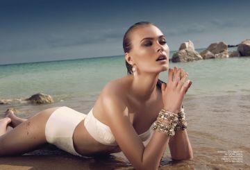 Bikini, ZS's; bracelets, Oasis, Debenhams; earrings, stylist own
