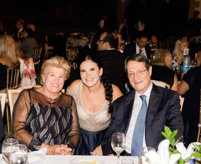 Olga Balakleets_President of Cyprus Nicos Anastasiades_ First Lady of Cyprus Andri Anastasiades