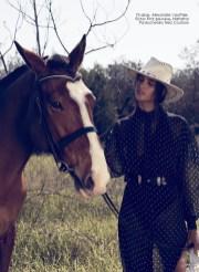 Dress, Alexandre Vauthier, First boutique; belt, Natasha Pavluchenko Neo Couture