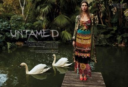 Kimono, skirt, all - Etro, KUL-T boutique; dress, Fuzzi, Timinis boutique; shoes, Aldo