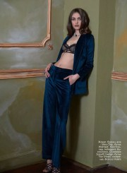 Jacket, pants, all - Ultra Chic, Wanted boutique; bra, Initmissimi; shoes, Giuzeppe Zanotti Design, Fior Shoes boutique; necklace, Bianca Makris