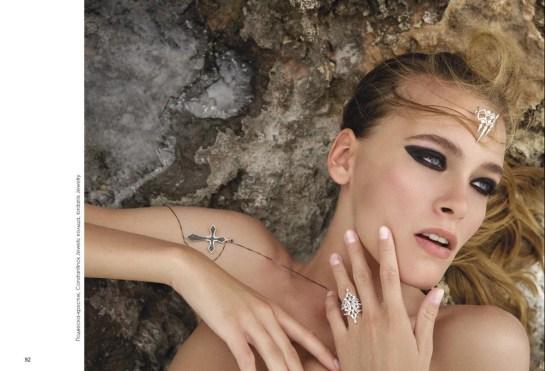 Cross pendant, Constantinos Jewels; rings, Iordanis Jewelry