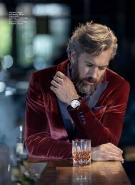 Tuxedo: Hugo Shirt: Haupt Turtleneck Sweater: Johnstons Cashmere Watch: Montblanc Pocket Square: Hackett London