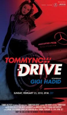tommy hilfiger gigi hadid drive formula 1