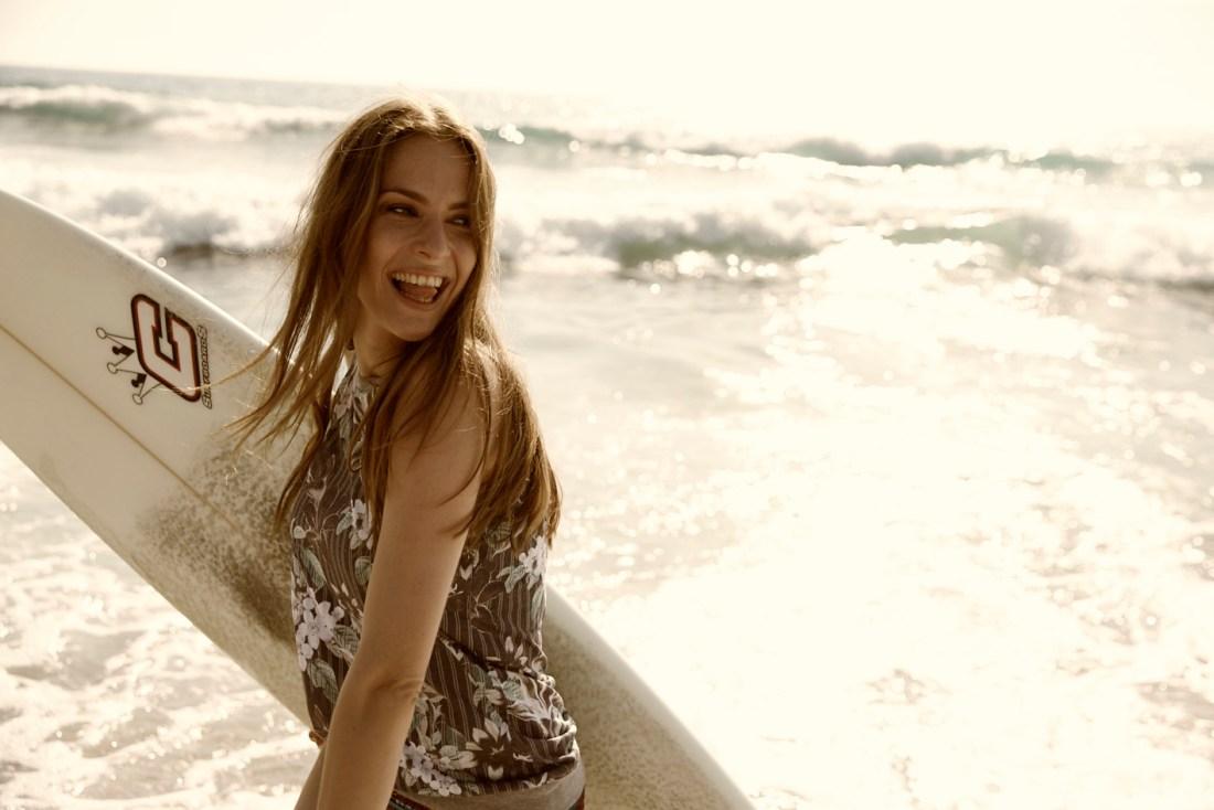 surfer girl in cyprus