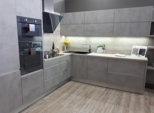 kuchynská linka cementova kuchyne Frozen Elektro nitra