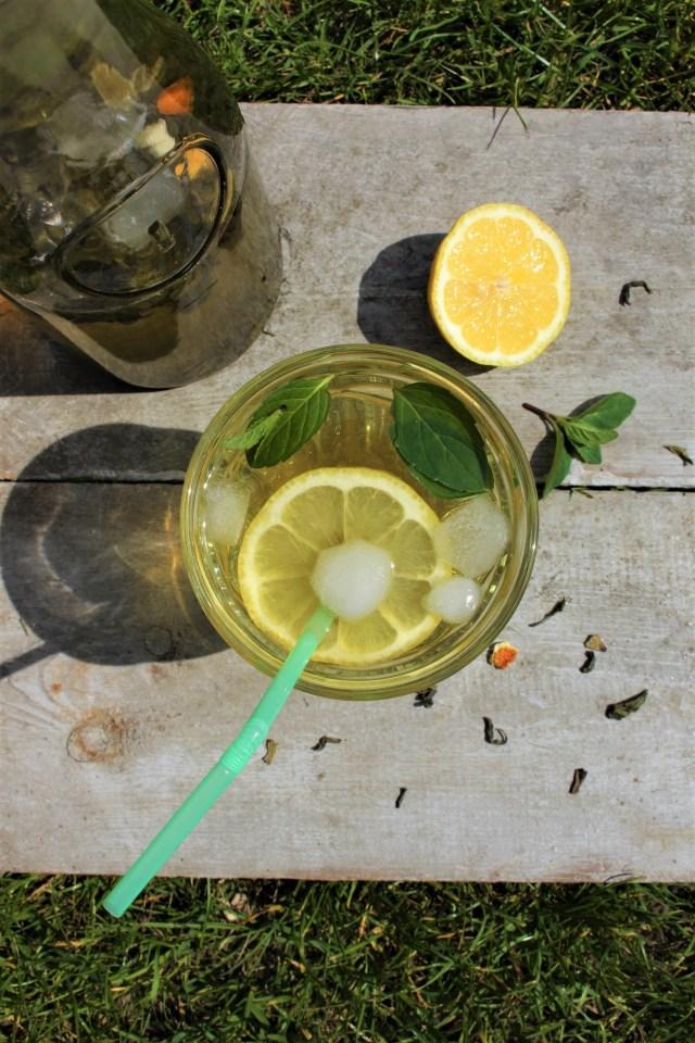 mrożona zielona herbata