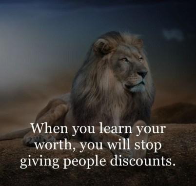 ko boš vedela svojo vrednost- lev