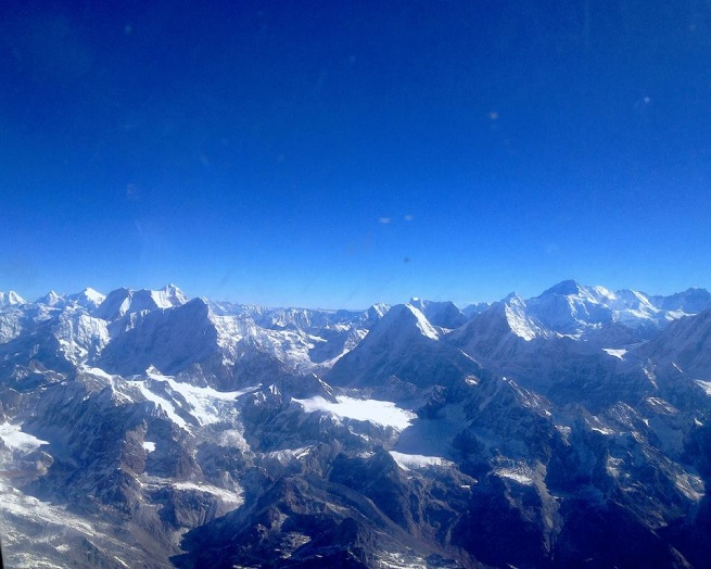Let iznad Himalaja. Foto: Ivana Kovačević