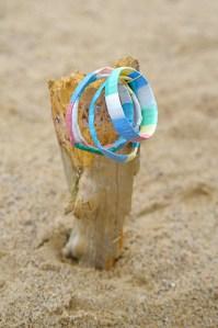 Wodoodporna bransoletka w postalowych kolorach