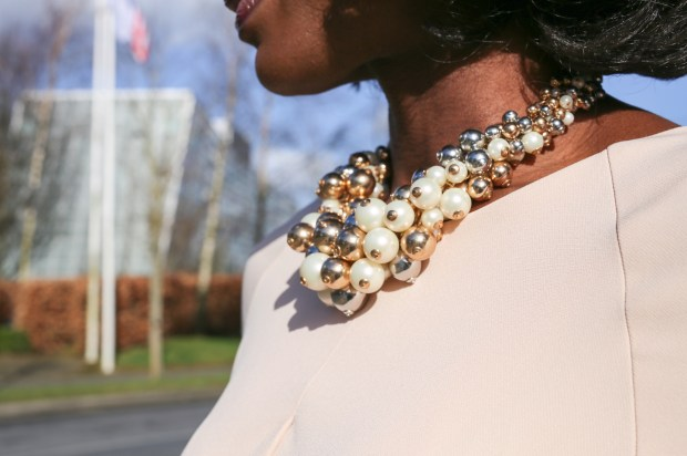 3 tone statement necklace