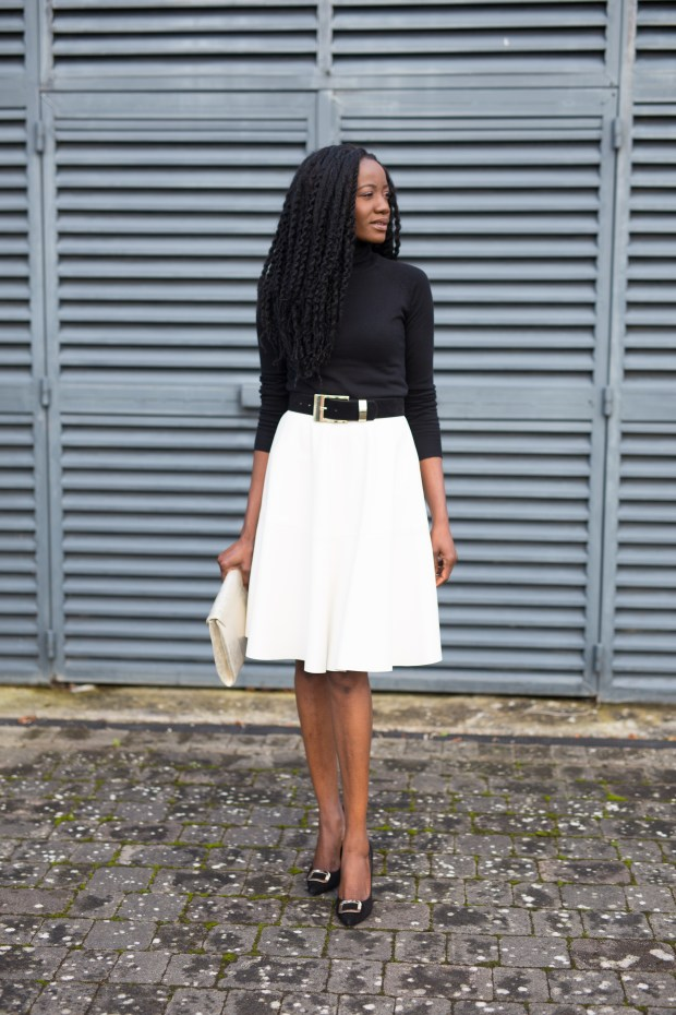 MOJINTOUCH IN ZARA LEATHER SKIRT