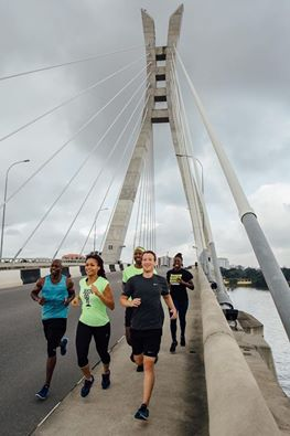 Mark Zucjerberg runs on the Ikoyi Bridge Nigeria Image