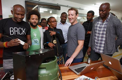 Mark Zuckerberg in Nairobi on Mobile Money Image