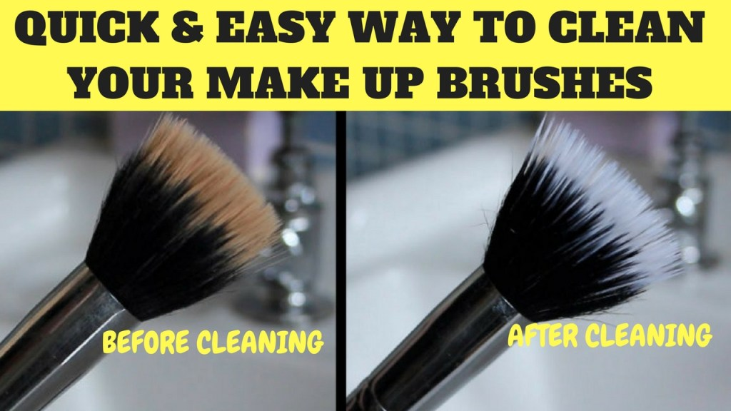 QUICK & EASY WAY TO CLEAN YOUR MAKE UP BRUSHES