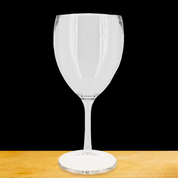 verre a pied transparent incassable