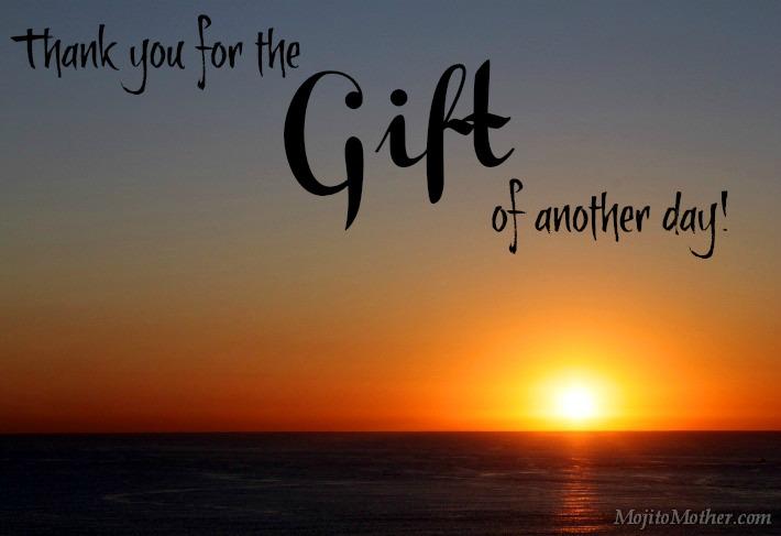 Image of a sunrise representing gratitude