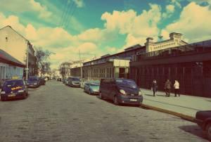 Vilnius in Litauen. Blick in die Pylimo gatve in Vilnius
