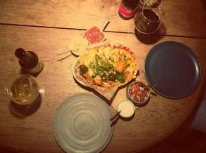 Vilnius in Litauen. Food Beer Pairing im mexikanischen Sofa de Pancho-Restaurant in Vilnius