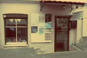 Vilnius in Litauen. Ideas Block Creative Space Cafe in Vilnius