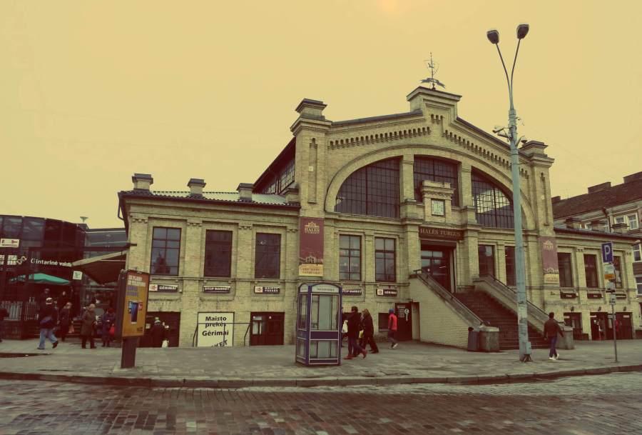 Hales Turgus-Marthalle in Vilnius