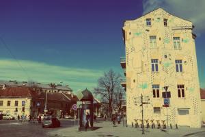 Vilnius in Litauen. Millo Street Art Mural in Vilnius