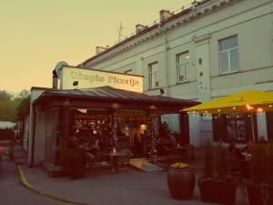 Uzupis in Vilnius. Gutes Restaurant in Uzupis