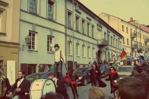 Uzupis in Vilnius. Geburtstag der Republik Uzupis am 1. April