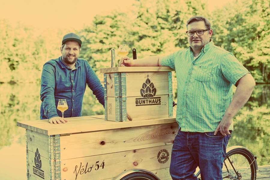 Bunthaus Brauerei. Das Team: Jens Hinrichs und Jens Block
