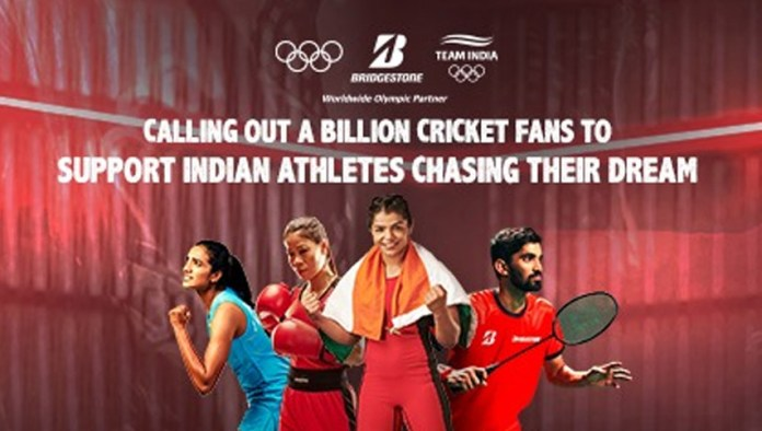 bridgestone india joins sindhu mary kom and mane in wishing indian olympic contingent
