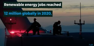 renewable energy jobs reach 12 million globally