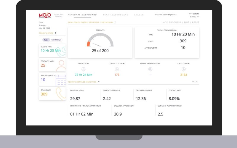 Personal prospecting dashboard