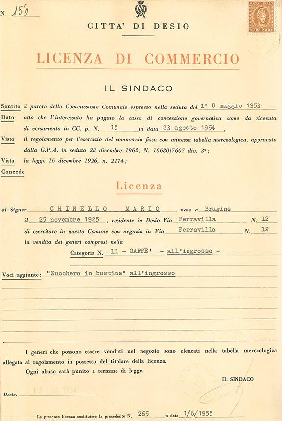 Licenza di Commercio / Desio, 1953