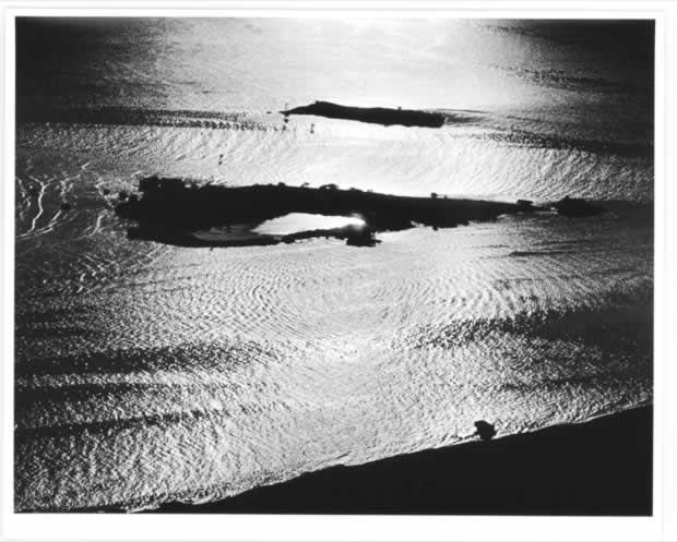 Mokauea island aireal view