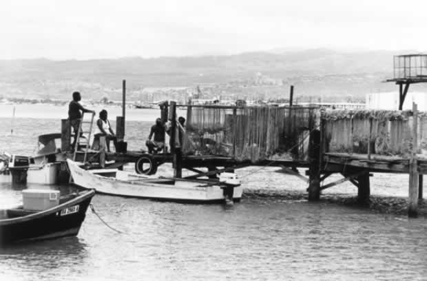 Nets drying on Mokauea island