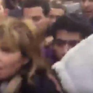 بالفيديو : ضرب مبرح وسب وطرد لميس الحديدى وريهام سعيد من امام كنيسة الكاتدرائيه
