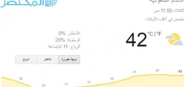 درجة الحرارة في الدمام اليوم الثلاثاء المختصر كوم