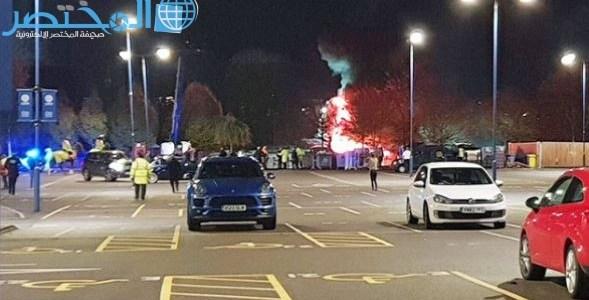 شاهد: لحظة تحطم طائرة مالك ليستر سيتي بعد المباراة قرب الملعب