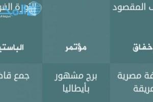 ما هو حدث كل أربع سنين من سبعة 7 حروف فطحل العرب