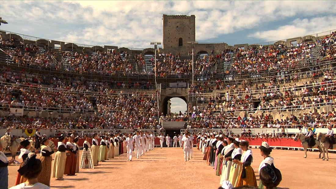 Lou Biòu - Feest van de fabelachtige stier - de arena