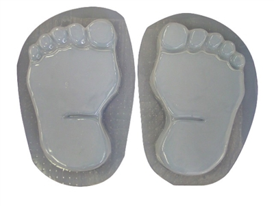 Footprints Bare Feet Concrete Or Plaster Stepping Stone