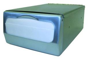 Dispensador acero inoxidable satinado para servilletas Minifold, tipo Mostrador