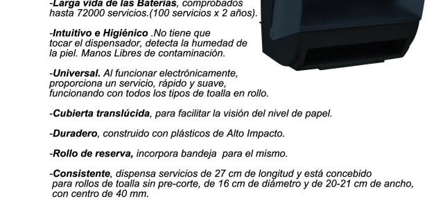 Nuevo dispensador Electrónico COMPACTO . Modelo 234