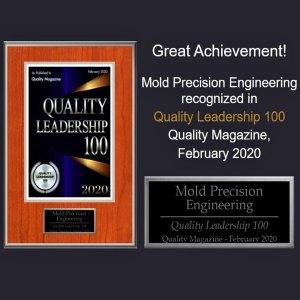 Quality Leadership Award, MPE, 2020