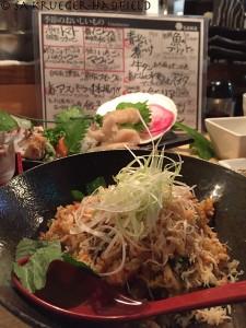 Dinner at Sawa in Abashiri