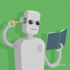 Machine learning. Image from www.toptal.com