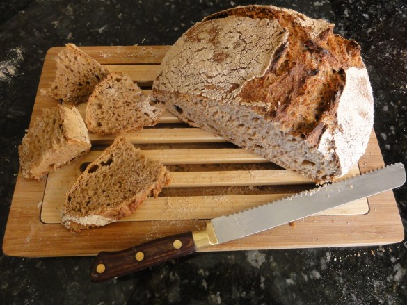 Delicious wheat bread. This photograph is not paleo approved. Photo credit Mireya Merritt